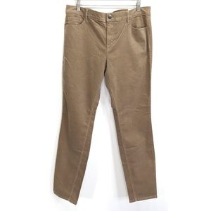 Loft Outlet Sz 14 Brown Skinny Corduroy Slim Pants